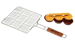 Bull Stainless Mini Burger Grilling Basket