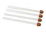 Bull Rosewood Handle Double Prong Skewers