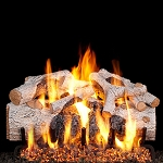 Real Fyre Charred Mountain Birch Log Set (Logs Only - Burner Not Included)