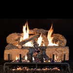 Real Fyre Charred Angel Split Oak Log Set (Logs Only - Burner Not Included)