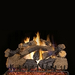 Real Fyre Charred Grizzly Oak Log Set (Logs Only - Burner Not Included)
