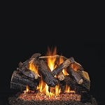 Real Fyre Charred Majestic Oak Log Set (Logs Only - Burner Not Included)