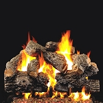Real Fyre Charred Royal English Oak Log Set (Logs Only - Burner Not Included)