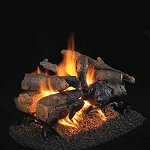 Real Fyre Charred American Oak See-Thru Log Set (Logs Only - Burner Not Included)
