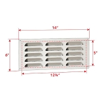 Fire Magic Grill Island Louvered Vent Panel