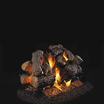 Real Fyre Charred Royal English Oak See-Thru Series Log Set (Logs Only - Burner Not Included)