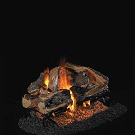 Real Fyre Charred Rugged Split Oak See-Thru Series Log Set (Logs Only - Burner Not Included)