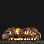 Real Fyre Mammoth Pine See-Thru/Large Series Log Set (Logs Only - Burner Not Included)