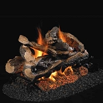 Real Fyre Rugged Split Oak See-Thru Series Log Set (Logs Only - Burner Not Included)