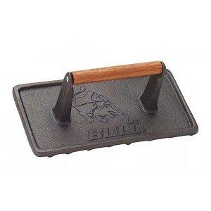 Bull Cast Iron Rectangular Grill Press